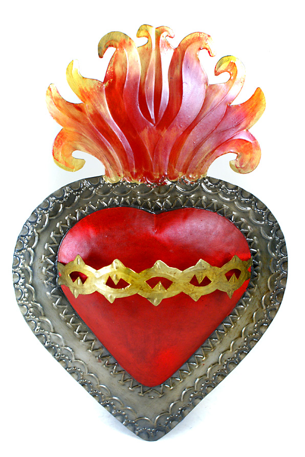Sacred Heart in tin