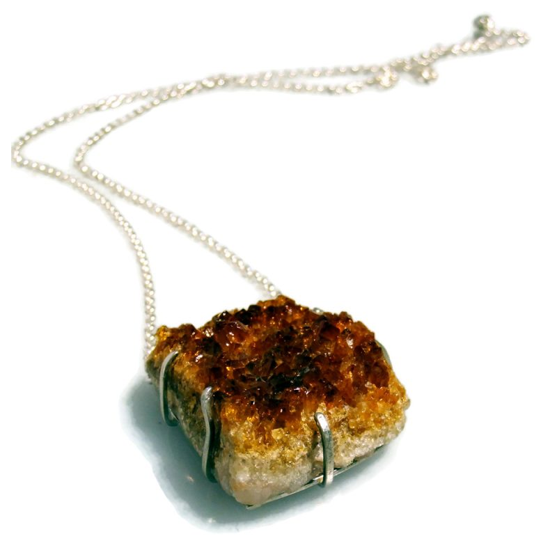 Silevr and Citrine Crystalline chain