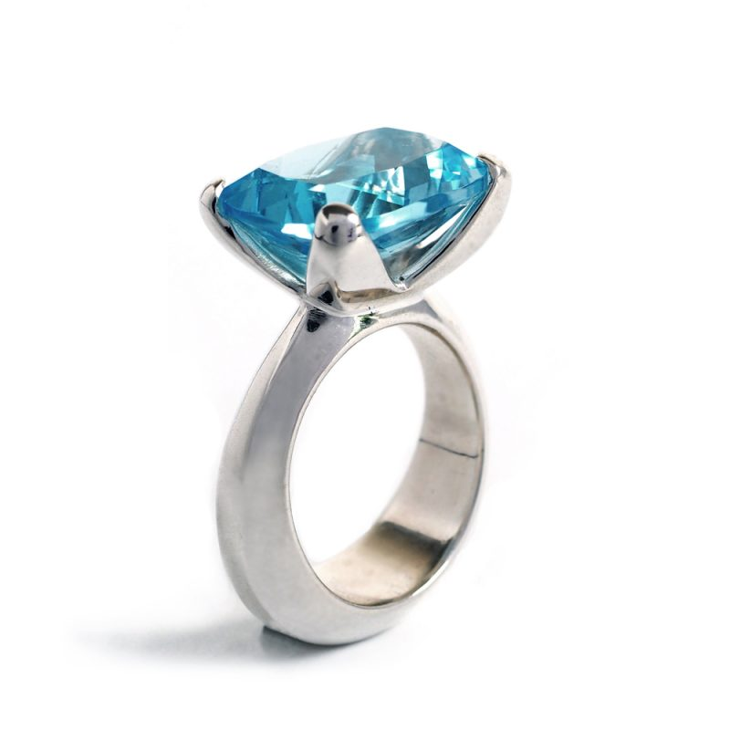 Silver and topaz Radiance ring