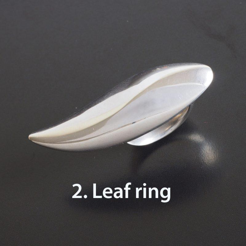 Sterling Silver Lotus Leaf ring