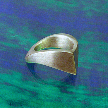 silver Tusk Which Way ring