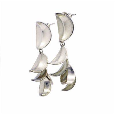 Sterling silver lily earrings