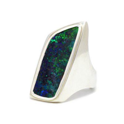 Hand-made Australian Boulder Opal ring