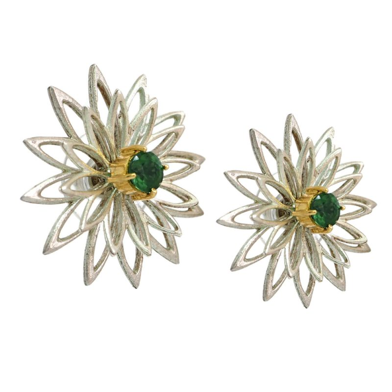 Chryspinner silver and gold earrings